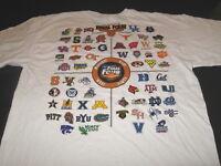 NCAA Basketball MISSOURI Road to Final Four 2010 Team Logos T-Shirt New! NWT MED