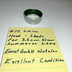 #72 Leica Hood / Shade Summaron - Elnar 3.5cm Ernst Leitz Gmbh Wetzlar