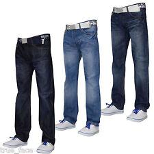HOMME DESIGN SMITH & JONES jeans ceinture gratuite Furio coupe droite pantalon