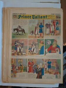large panel 1939 one missing sunday newspaper pages PRINCE VALIANT Harold Foster