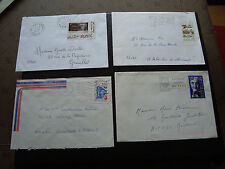 FRANCE - 4 enveloppes 1992 1995 1995 1998 (cy34) french
