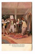 Vintage Postcard Roosevelt Bears At The Tailor Anthropomorphic Dressed 1906