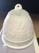 Lladro - Collectors Society-1992 Christmas Bell, Candles, & Floral Orig. Box