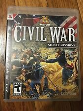 History: Civil War Secret Missions (Sony PlayStation 3, 2008) Complete