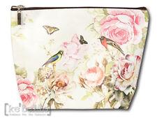 Kosmetiktasche 23 x16 Clayre & Eef Schminktäschchen Vögel u.Rose Vintage  Shabby