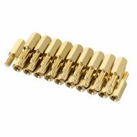 30pcs M3 10+6mm Female Male Thread Brass Hex Standoff Spacer Screws PCB Pillar