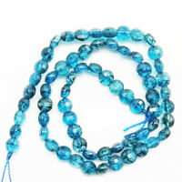 7x5mm A+ Natural Blue kyanite Faceted Round loose Beads LD201952522D6