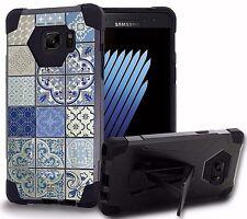 Galaxy NOTE 7 Rugged Dual Shock Armor Hybrid Kickstand Case PORCELAIN PATTERN
