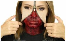 Zipper Face Liquid Latex Set Hollywood Special Effects Halloween Make Up