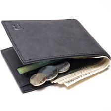 Men's Leather Billfold Slim Wallet ID Credit Card Holder Money Clip Purse
