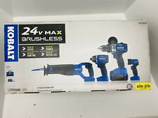 Kobalt 24V Max Brushless 4-Tool Combo Kit + Battery & Charger