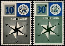 ✔️ NETHERLANDS 1957 - EUROPE EUROPA CEPT - NVPH 700/701 ** MNH OG