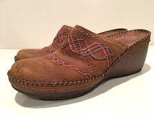 Clarks Artisan Helen Women's Slip on Mule Wedge Clogs Shoes Size 8.5 M
