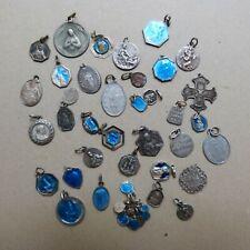 Lot de Médailles Religieuses Anciennes Argent