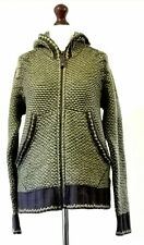 Diesel Chunky Knitted Wool Mix Hooded Cardigan Jacket Hippy - Size Medium- VGC