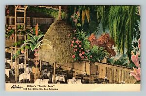 "Los Angeles CA-California, Clifton's ""Pacific Seas"" Advertising Linen Postcard"
