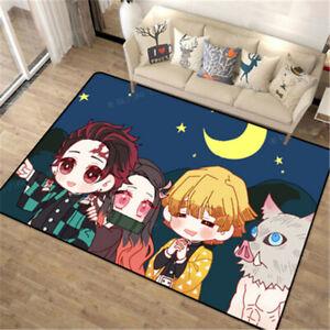 Anime Demon Slayer Bedroom Floor Rug Non-slip Mat Cartoon Carpet Home Doormat