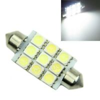 31mm 9SMD  LED Festoon Light Bulb White Interior Boot Map Sunvisor Car