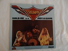 """Triumph """"Hold On"""" PICTURE SLEEVE! BRAND NEW! ONLY NEW COPY ON eBAY!!"""