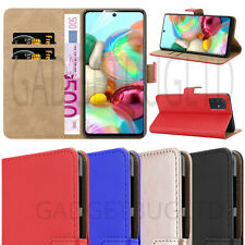 LUXURY CASE FOR SAMSUNG GALAXY A71 5G REAL GENUINE LEATHER WALLET FLIP COVER