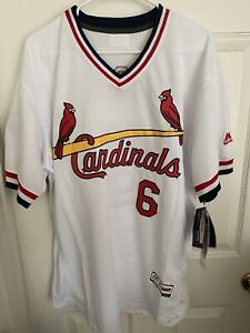 New With Tags Majestic St Louis Cardinals Flex Base Jersey Stan Musial Size 44