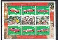 Ferrari 1988 100th Anniversary Ferrari Michael Schumacher Stamps Sheet Ref 31573