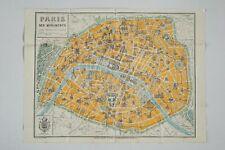 c1925 Attractive Pictorial Map of Paris - Paris ses Monuments