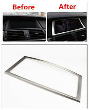 Steel Inner Dashboard Navigation Frame Cover Trim 1pcs For BMW X5 E70 2007-2013
