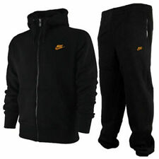 NIKE MENS FULL TRACKSUIT TOP BOTTOMS JOGGERS HOODIE 3D LOGO SPORTS BLACK