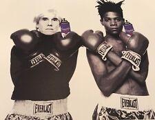 Basquiat & Andy Warhol Boxers print by DEATH NYC Ltd Ed Mr Brainwash art poster
