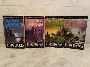 The Original Shannara Triology and Prequel by Terry Brooks - Complete - Lot of 4