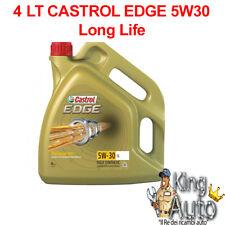 4 LITRI OLIO MOTORE CASTROL EDGE 5W30  FST TAGLIANDO VW 504.00 LONG LIFE BMW
