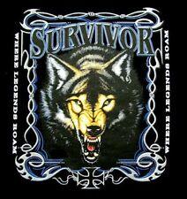 SURVIVOR WILD WOLF WOLF MAN LYCAN WEREWOLF T-SHIRT W203