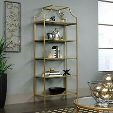 Luxury Bookcase, Satin Gold Etagere