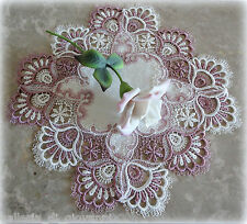 Delicate Trim Misty Mauve Lace  Doily  Estate Design Doilies