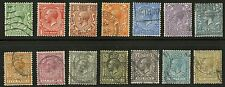 Great Britain   1912-13   Scott # 159-172   USED Set