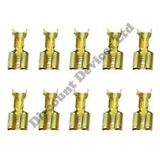 10x Female Crimp Spade Terminal 6.3mm Connector