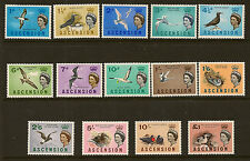 ASCENSION ISLAND :1963   Birds definitives  SG 70-83 unmounted mint