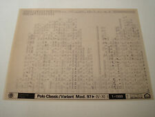 VOLKSWAGEN POLO CLASSIC & VARIANT MODEL 1997on PARTS MICROFICHE FULL SET OF 1