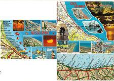 3 AK map card Italien: San Marino, Pesaro, Cervia, Rimini