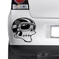 HELMET SKULL Vinyl Sticker Car Bumper Van Window Bike Helmet Laptop JDM  DECALS