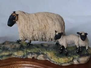 BORDER FINE ARTS  BLACK-FACED EWE AND COLLIE- 1982  RAY AYRES 104/B104