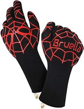 Renewgoo Bbq Grilling Gloves Heat Resistant Kitchen Silicone Oven Mitts Long Red