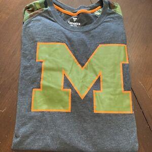 Michigan Wolverines Fanatics Camo T-Shirt Never Worn No Tags 2XL