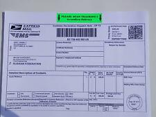 USPS PLEASE SCAN TRACKING # to confirm DELIVERY international only label 500/rl