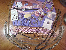 ESTATE JEWELRY LOT 9~Vintage to mod~necklaces~bracelets~pins~Mickey Mouse watch