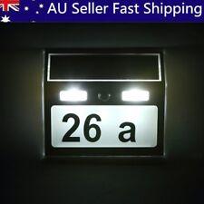 7 LED Lighting Solar Power House Number Light Doorplate Door Sign Wall Lamp