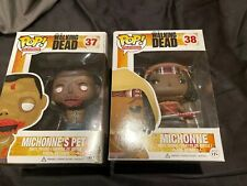2 Funko POPs! The Walking Dead - Vinyl Figure - MICHONNE & MICHONNES PET 1.