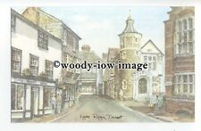 DS413 - Somerset - Lyme Regis Street Scene, Artist- David Skipp - Postcard