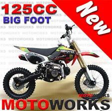 MOTOWORKS 125cc BIGFOOT DIRT TRAIL PIT MOTOR 2 WHEELS PRO BIKE Kick start red